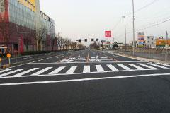 8号大和田交差点舗装