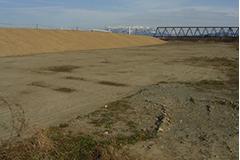 中角地区旧堤 撤去工事